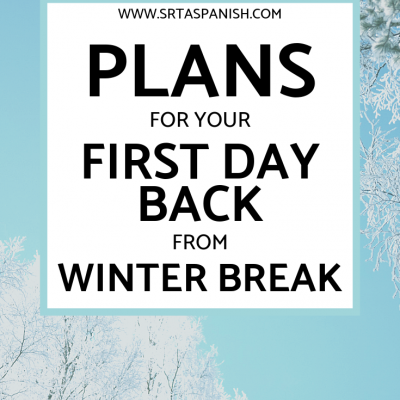 Plans for Your First Day Back from Winter Break