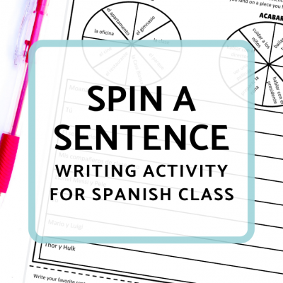 Writing Activities: Spin a Sentence + Telephone Pictionary
