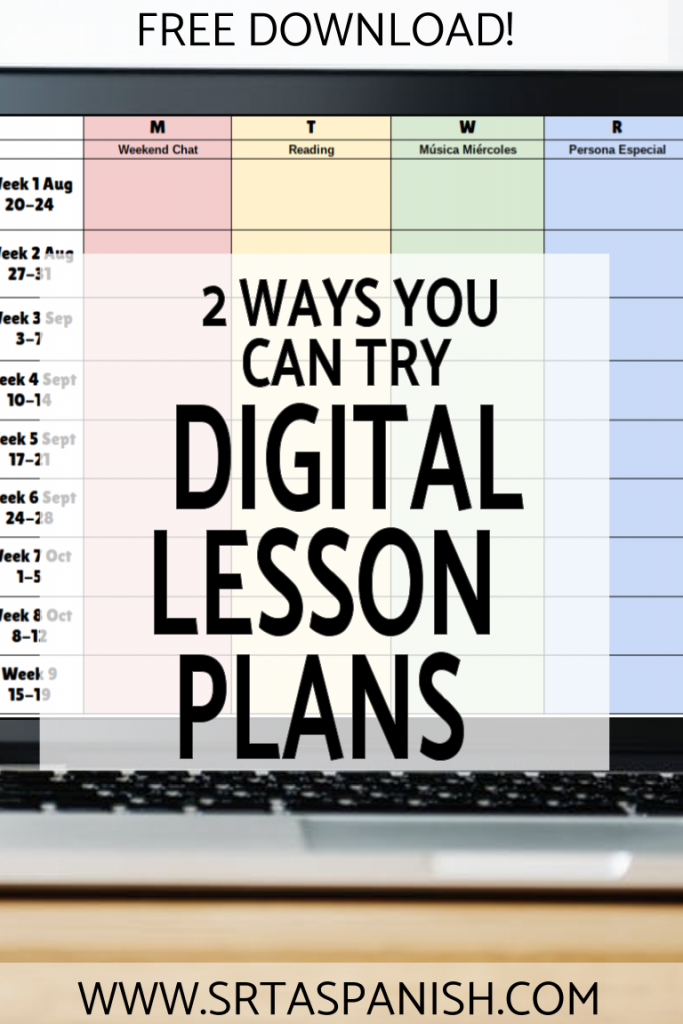 Digital Teacher Planner Variations for Google Drive - SRTA Spanish