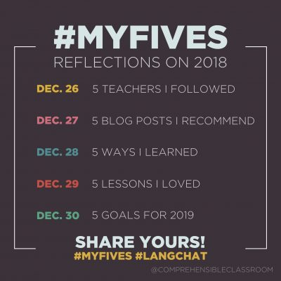 #MyFives Top 5 Posts of 2018