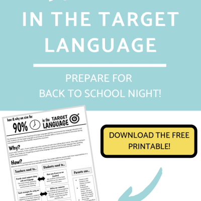 90% Time in the Target Language Handout