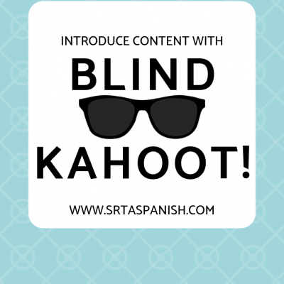 Blind Kahoot – Use Kahoot to Introduce Concepts