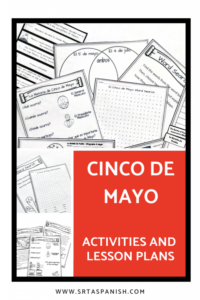 Cinco de Mayo Activities and Lesson Plans for Spanish Class