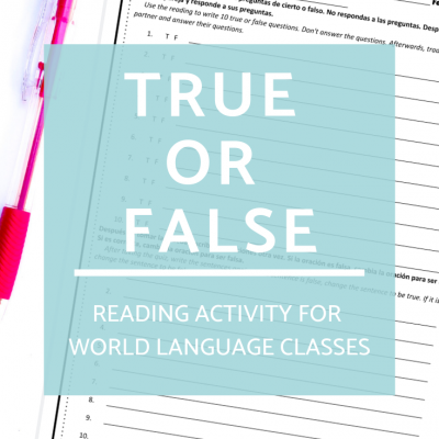 True/False: No Prep Reading Activity