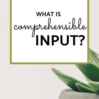 Defining Comprehensible Input