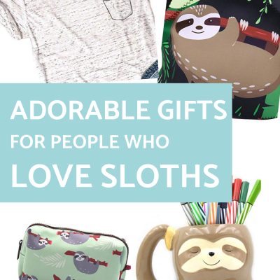 Adorable Gifts for People Who Love Sloths