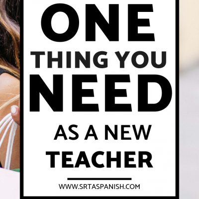 The ONE Thing you NEED as a New Teacher