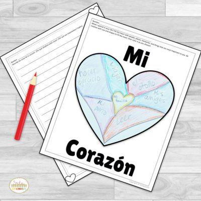Heart Activities for Spanish Class