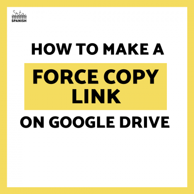 How to Create a Force Copy Link on Google Drive