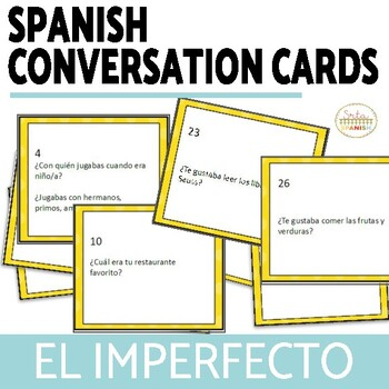 El Imperfecto Spanish Imperfect Speaking Activity with DIGITAL Option