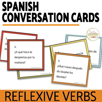 Spanish Reflexive Verbs and Daily Routine Rutina Diaria Speaking with Digital Option