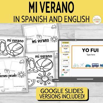 El Verano Summer Writing Activity in Spanish and English