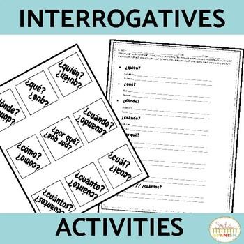 Palabras Interrogativas Spanish Question Words Spanish Activities