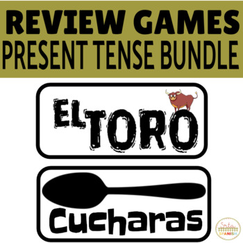 Spanish PRESENT TENSE BUNDLE Review Game Pack