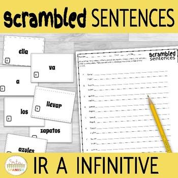 Ir a Infinitive Scrambled Sentences Activity