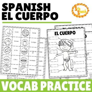 El Cuerpo Vocabulary Practice