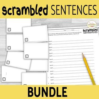 Scrambled Sentences Activity Bundle