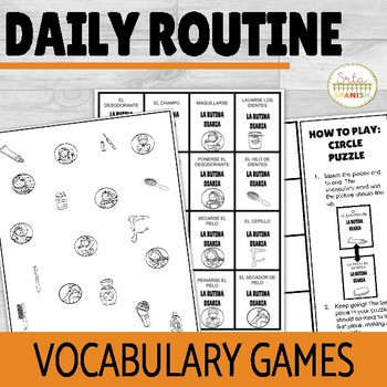 Daily Routine and Reflexives Vocabulary Games