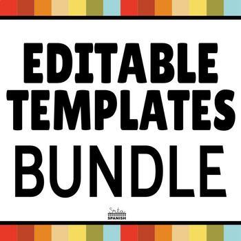 Editable Game Templates BUNDLE