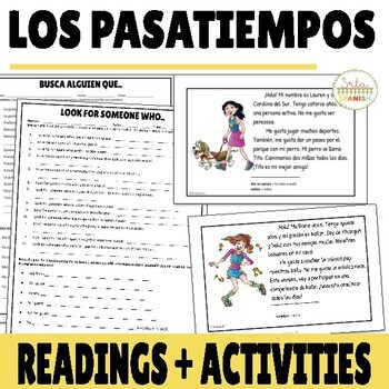 Pasatiempos Spanish Free Time Activities Reading with DIGITAL Option