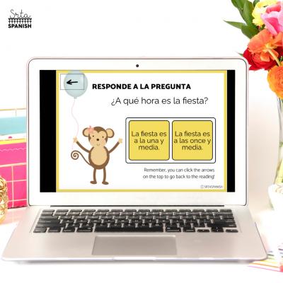 Digital Reading in Spanish Class