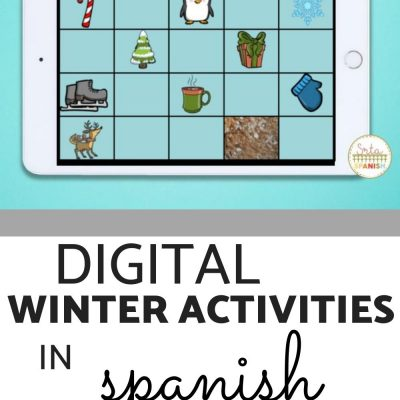 Digital Winter Activities for Spanish Class