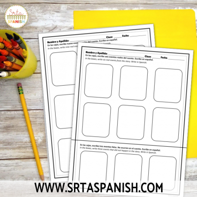Reading Activity for Spanish Class: Tabata Timeline