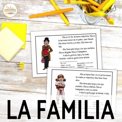Reading Activities to Teach La Familia in Spanish Class