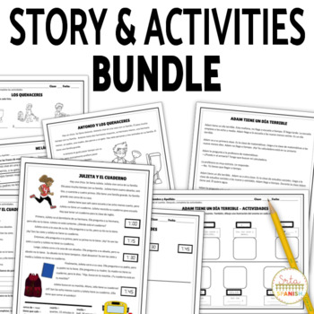 Spanish Reading and Activities BUNDLE | Printable Stories for Spanish Class