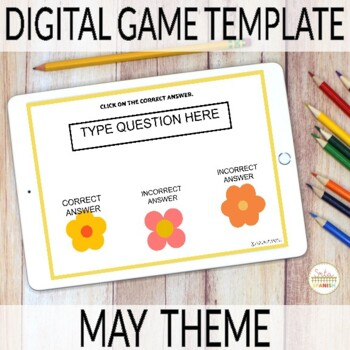 Editable Digital Review Game Template for Spanish | MAY Theme