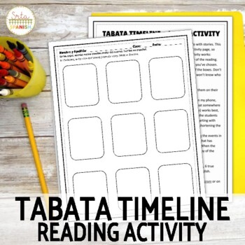 Reading Activity for Spanish Class | Tabata Timeline